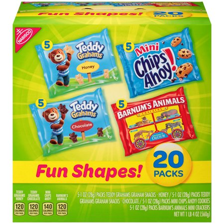Nabisco Fun Shapes! Cookies & Crackers Variety Pack, 1 Oz., 20 Count](Healthy Fun Halloween Snacks Kids)