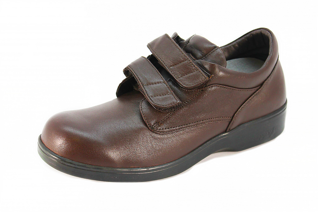 Aetrex Ambulator BV3100 Women's Double Strap Brown Walking Shoe by Aetrex