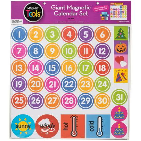 "Giant Magnetic Calendar Set 17.5""X13.5"" 94pcs-"