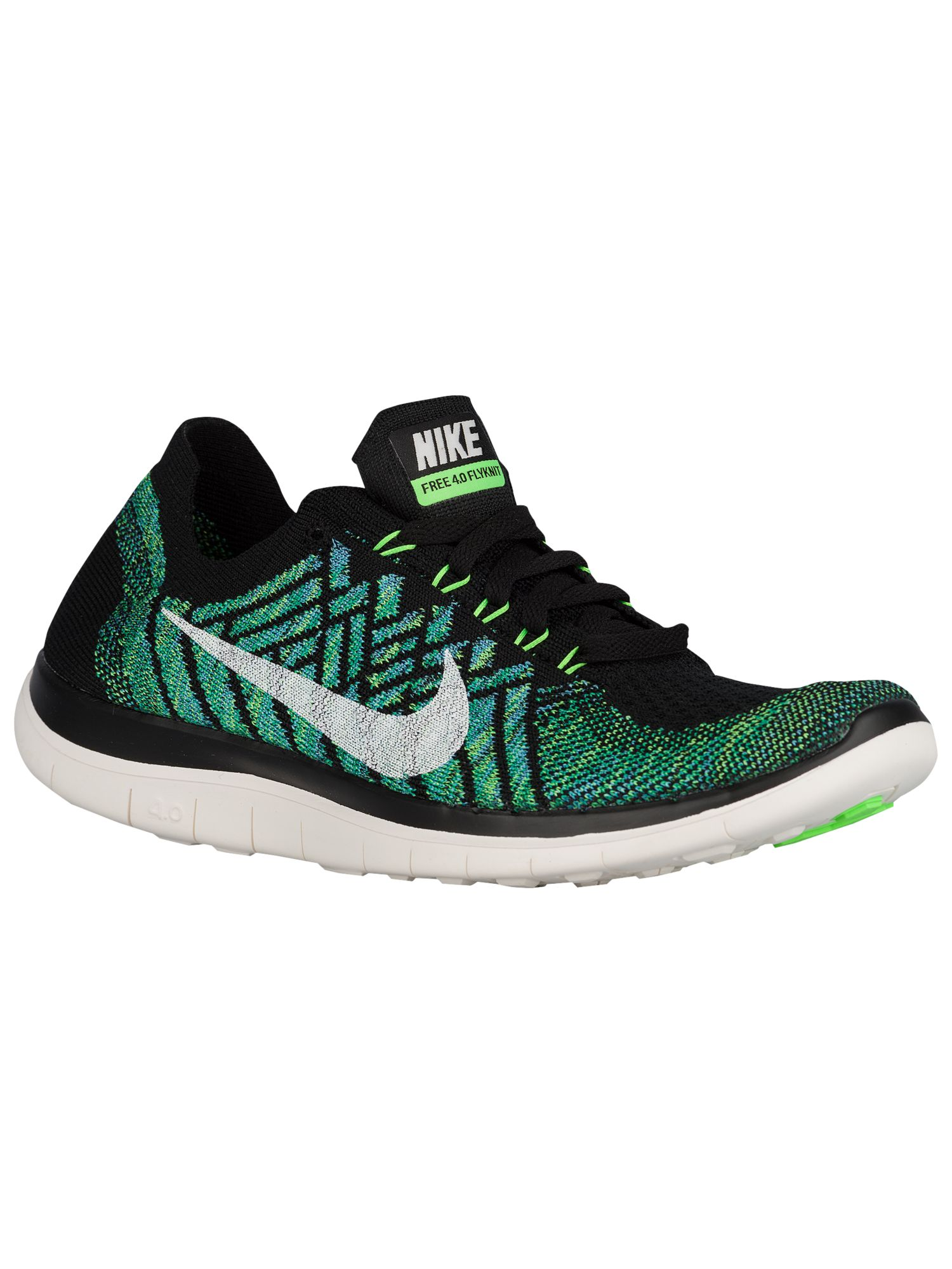 best sneakers ce82b cc8c8 Nike Free 4.0 Flyknit 2015 - Women's - Running - Shoes - Black/Voltage  Green/Lucky Green/Sail