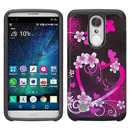 buy online 72044 a1904 LG Aristo Case, LG K8 2017, LG K4 2017 Hybrid Case, Slim Dual Layer  [Shock/Impact Resistant] Protective Case Cover for LG Aristo/K8 2017 -  Heart ...