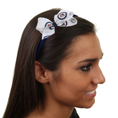 Winnipeg Jets Womens Wrapped Headband with Bow - No Size