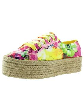 Superga Womens 2790 Canvas Floral Platform Sneakers