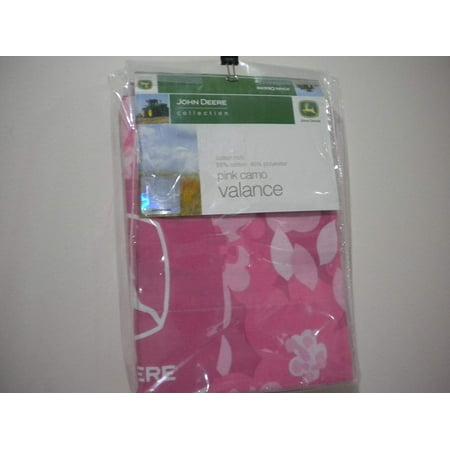 JOHN DEERE Pink Valance John Deere Curtain