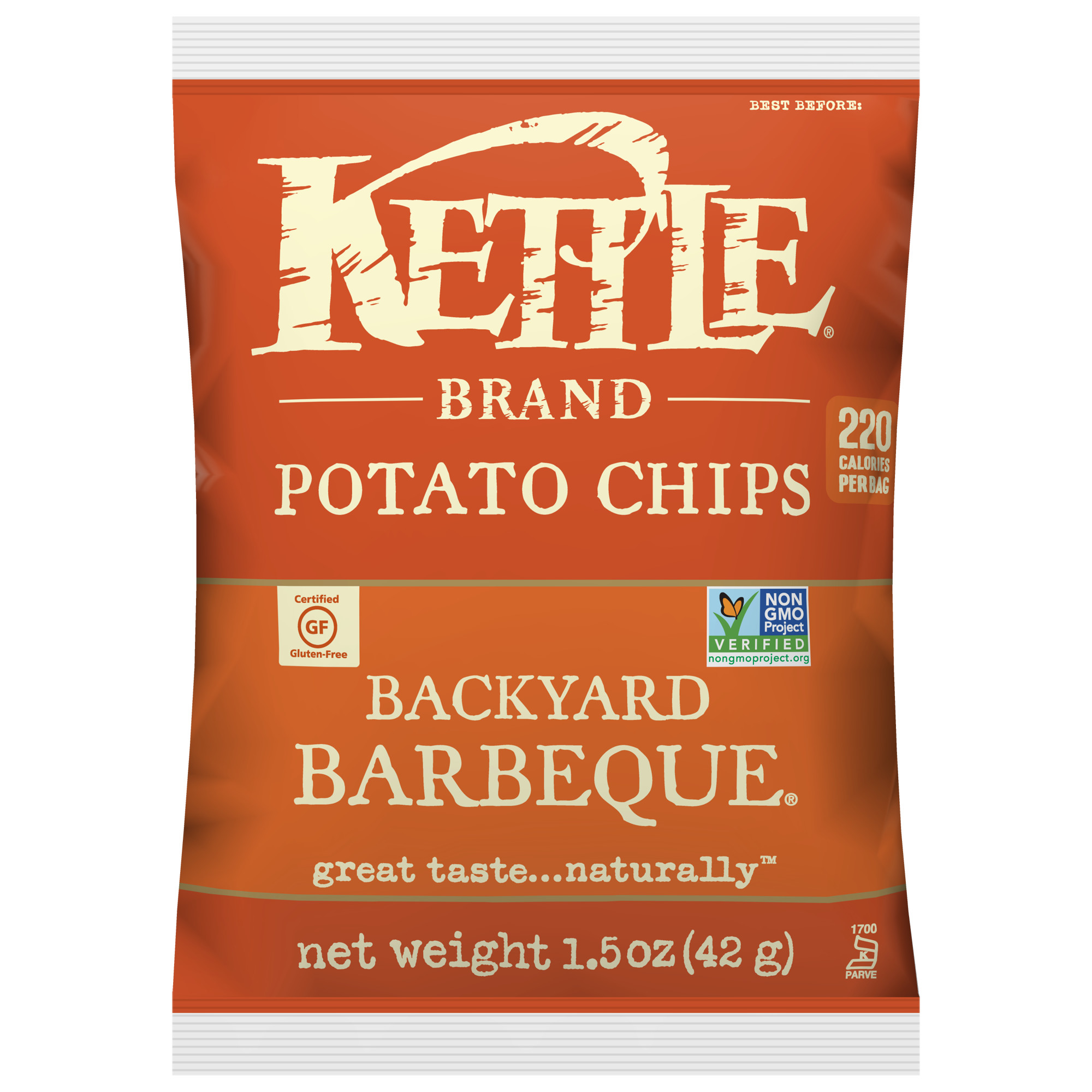 Kettle Brand Backyard Barbeque Multipack of Potato Chips, 1.5 Oz, 24 Ct