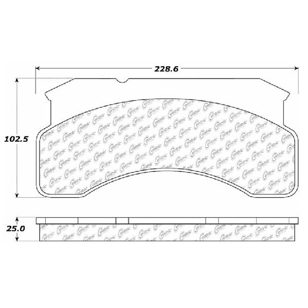 Go Parts Oe Replacement For 1984 1990 Ford C8000 Front Disc Brake Pad Set For Ford C8000 Walmart Com Walmart Com