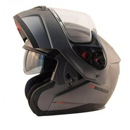 Zox Z-Mod Atom Mens Street Motorcycle Helmet - Matte Titanium - Large