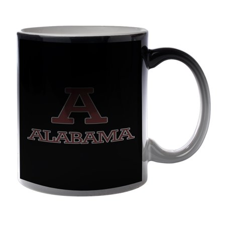 KuzmarK Black Heat Morph Color Changing Coffee Cup Mug 11 Ounce - Alabama