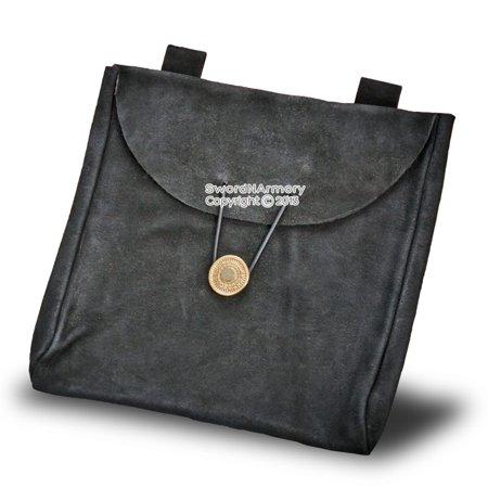 Medieval Renaissance Pirate Fair Costume Suede Leather Pouch Satchel Bag (Renaissance Leather Pouch)