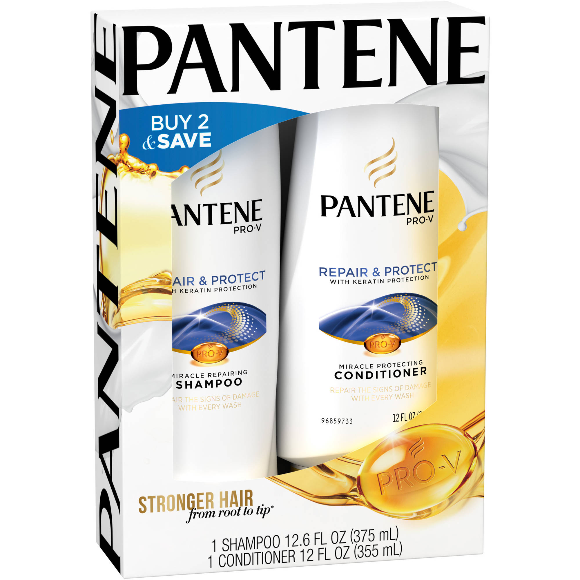 Pantene Pro-V Repair & Protect Shampoo & Conditioner Combo Pack, 2 pc