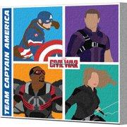 Pyramid America Captain America: Civil War Team Captain America Canvas Wall D cor