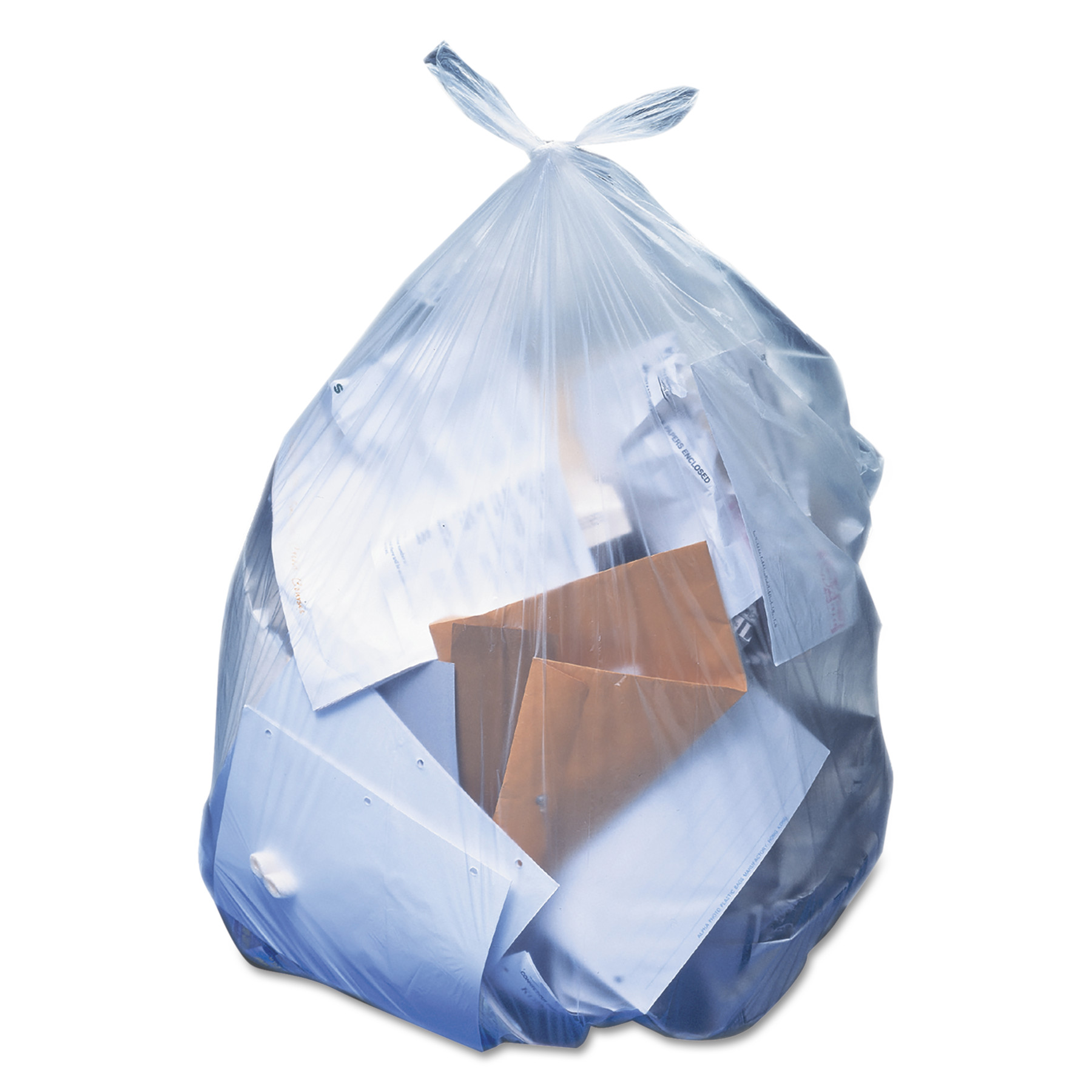 Heritage High-Density Coreless Trash Bags, 33 gal, 13 mic, 33 x 40, Natural, 500/Carton