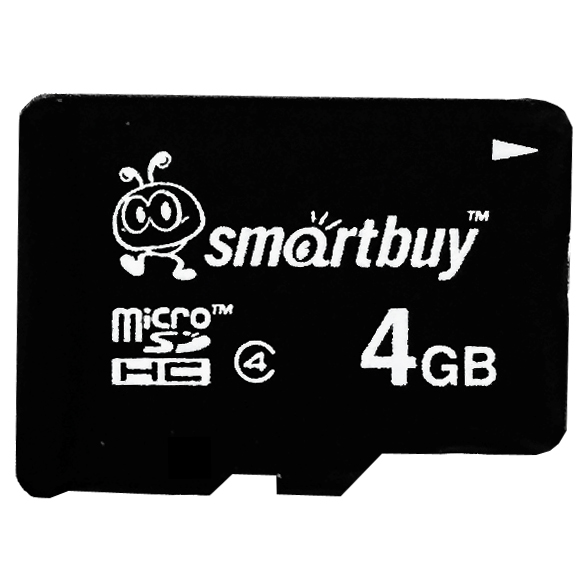Smartbuy 4GB Micro SDHC Class 4 TF Flash Memory Card SD HC C4 Fast Speed for Camera Mobile Phone Tab GPS MP3 TV