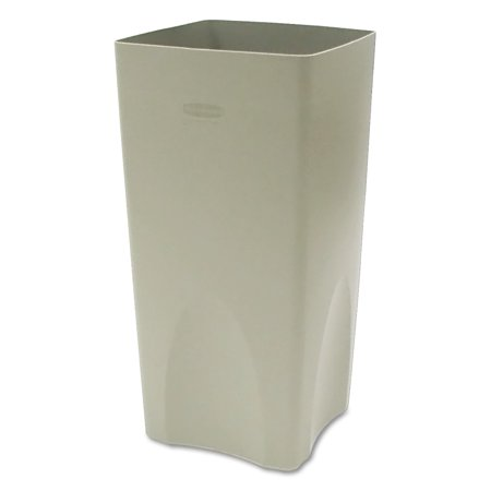 Rubbermaid Commercial Plaza Waste Container Rigid Liner, Square, Plastic, 19gal, Beige