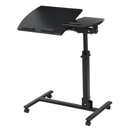 Langria Portable Rolling Laptop Cart Mobile Desk Notebook With Angle And Height