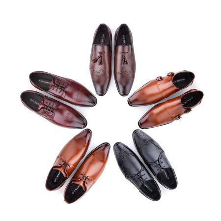 Mio Marino Men's Leather Tassel Dress Shoes