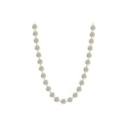 Thirty One CZ Stations Necklace - image 1 de 2