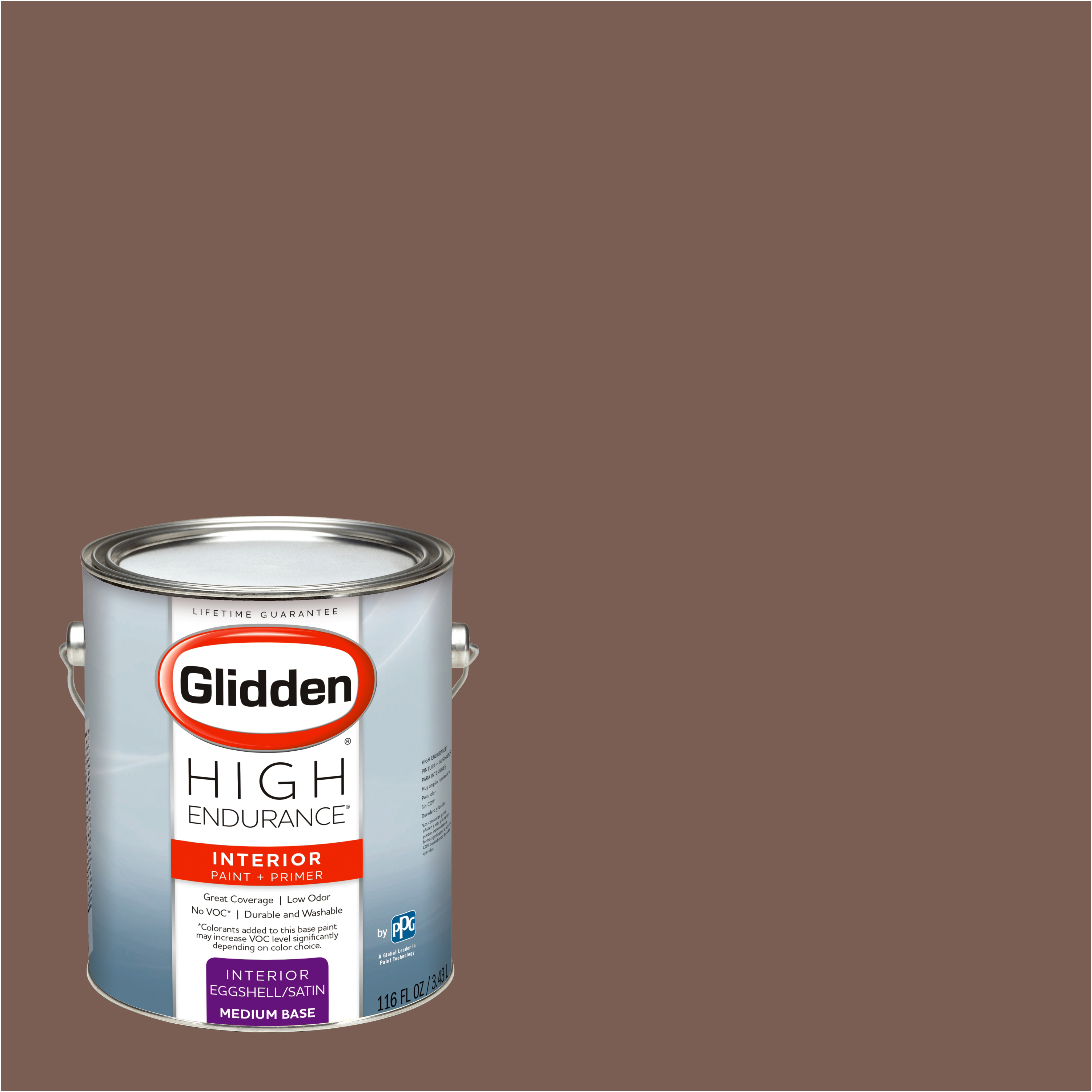 Glidden High Endurance, Interior Paint and Primer, Spicewood Brown, #50YR 13/139