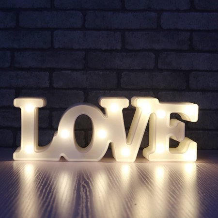 Love Light Sign Creative 3D I Love U Heart LOVE LED Night Light Marquee Sign Decoration Light for Valentine's Day Wedding Party Decor Creative Gift for Birthday Valentine ()