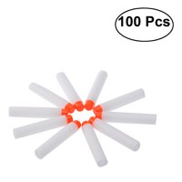 PIXNOR 100pcs Fluorescent Foam Darts for Toy Gun