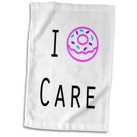 3dRose I DONUT CARE - Towel, 15 by 22-inch - Donut Tower