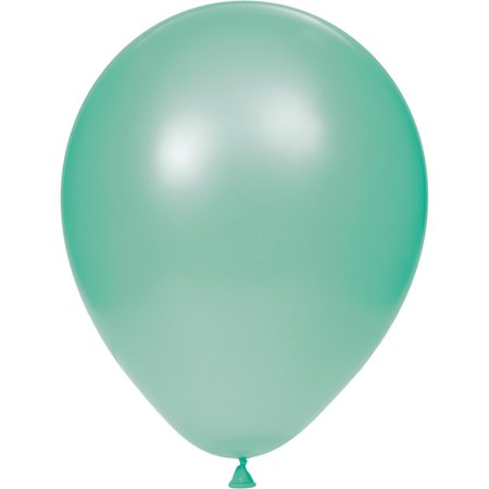 Club Pack of 12 Mint Green Decorative Foil Party Balloons - Mint Green Balloons