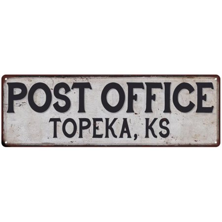 Topeka, Ks Post Office Personalized Metal Sign Vintage 6x18 106180011205 - Cupcakes Topeka Ks