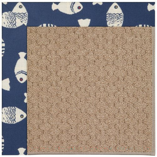 Capel Rugs Zoe Grassy Mountain Machine Tufted Pitch and Beige Indoor/Outdoor Area Rug