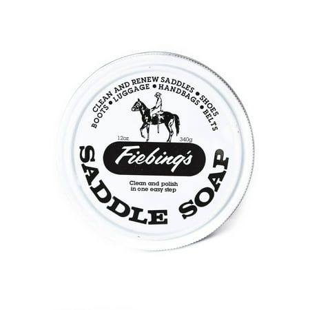 Fiebing's Saddle Soap, Leather Cleather, Polish & Conditioner 12 oz - White ()