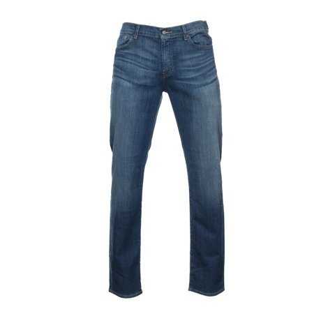 7 For All Mankind 'Slimmy' Blue Distressed Skinny Fit Jeans | Size 40x34 7 For All Mankind Petite