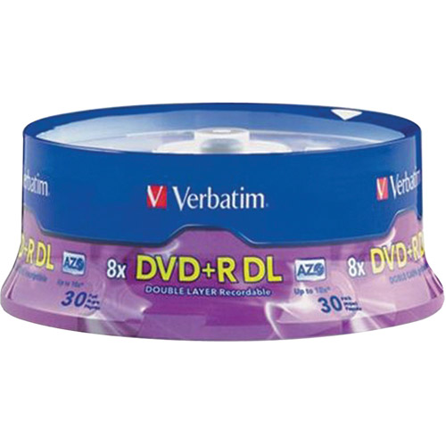 Verbatim 96542 8.5 GB 8X Dual-Layer DVD+R, 30-Disc Spindle