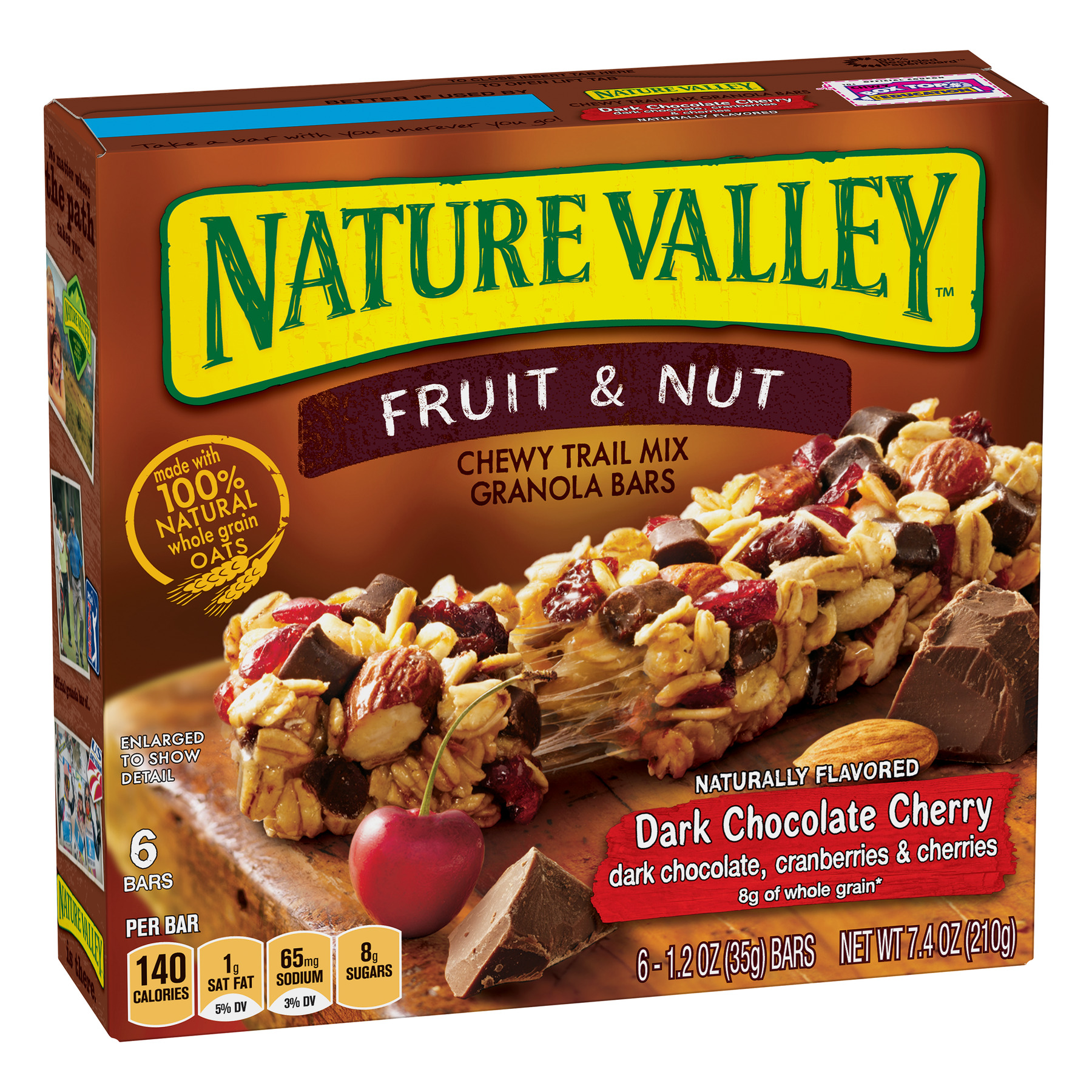 Nature Valley Trail Mix Dark Chocolate & Nut Chewy Granola Bars 7.4 oz