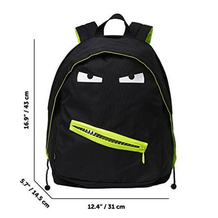 ZIPIT Grillz Backpack for Kids with Extra Side Pocket, Black - image 3 of 4