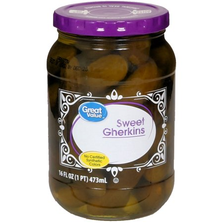 (3 Pack) Great Value Sweet Gherkins, 16