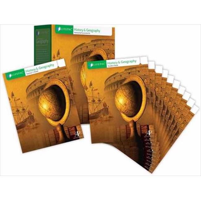 Alpha Omega Publications 680407 Lifepac History & Geography Complet Set Grade 8 by