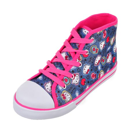 Hello Kitty Girls' Hi-Top Sneakers (Toddler Sizes 11 - 12)