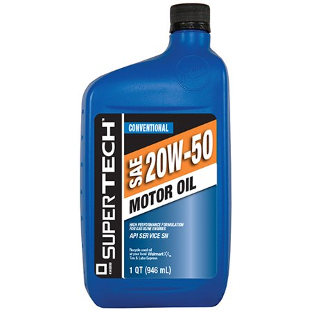 Supertech Sae 20w 50 Conventional Motor Oil 1 Qt