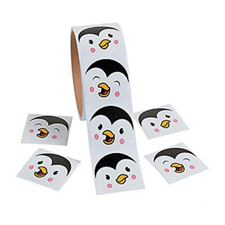 Penguin Face Roll of Stickers](Rolls Of Stickers)