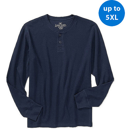 Faded Glory Big Men's Long-Sleeve Thermal Henley
