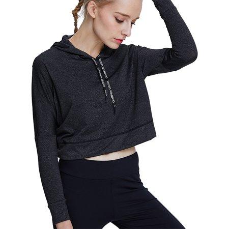 Women Sports Wear Back Cross Thin Sport Sweatshirt Long Sleeve  Hoodies Pullover Jumper