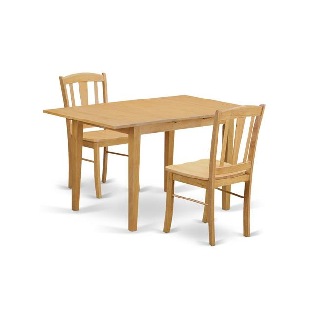 Dining Table for Small Spaces & 2 Chairs, Oak