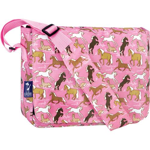 Wildkin Horses in Pink Kickstart Messenger Bag