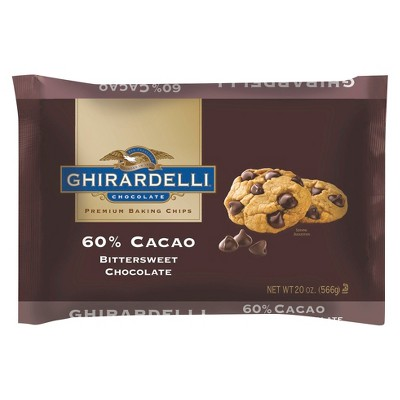 Ghirardelli 60% Cacao Bittersweet Chocolate Baking Chips 20 oz by