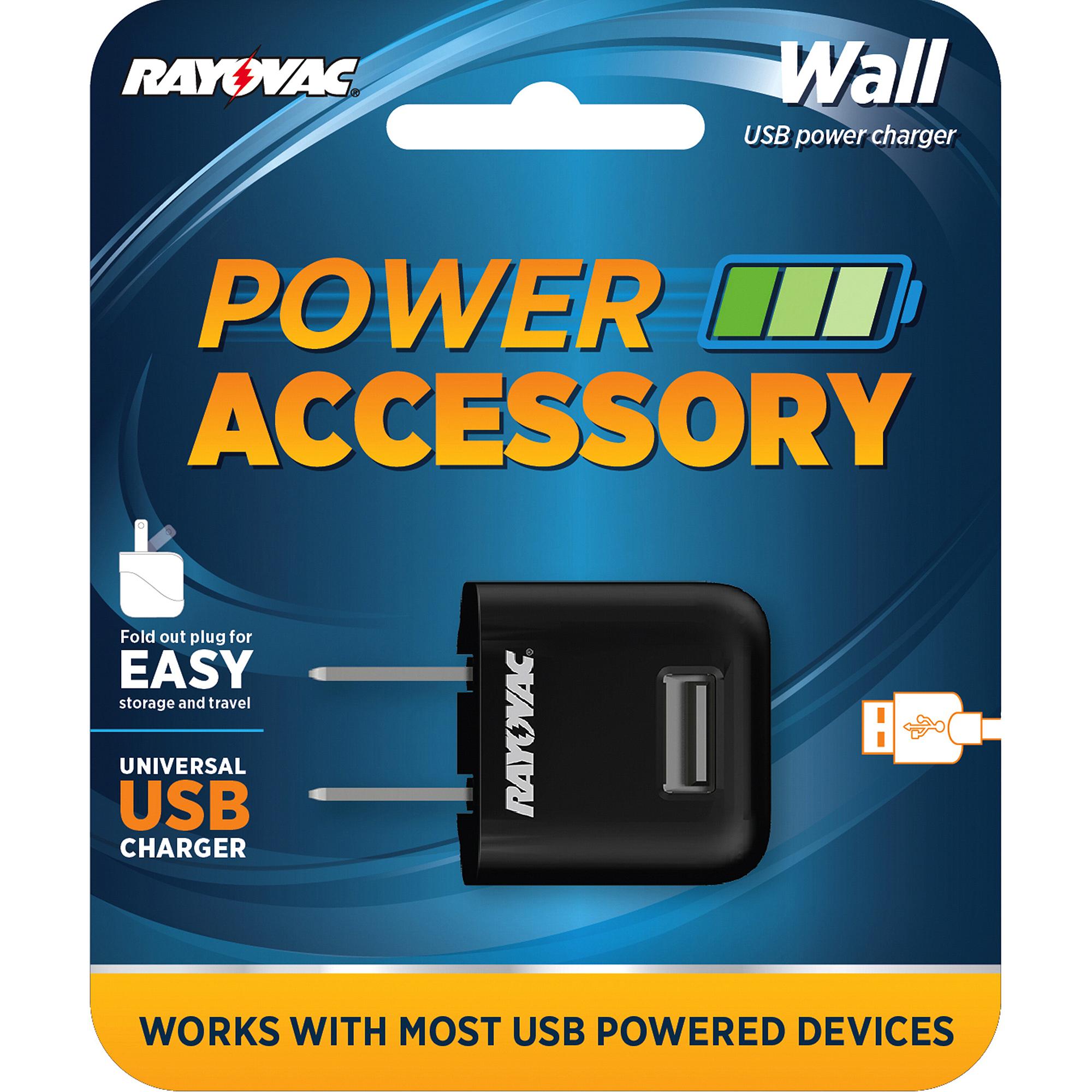 Rayovac Portable USB Wall Charger