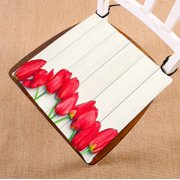 ECZJNT Tulips Easter Red tulips on a of light boards seat pad chair pads seat cushion 16x16 Inch