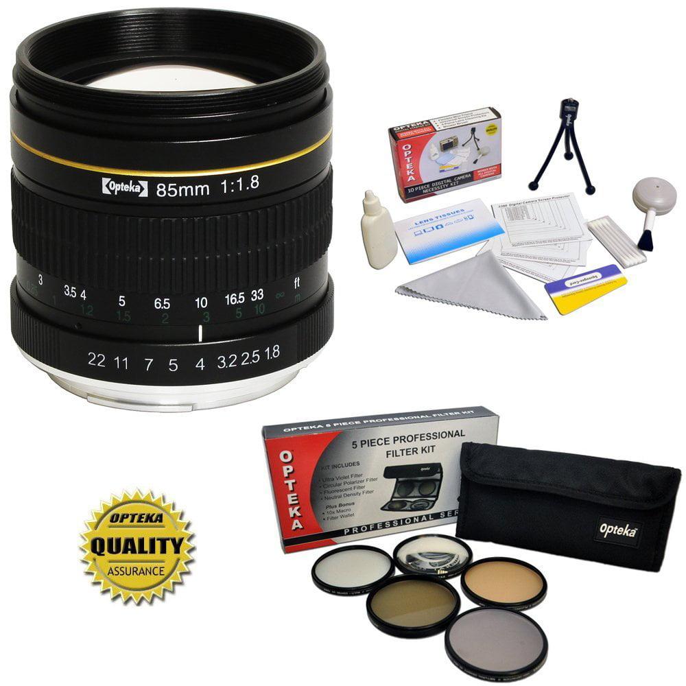 Opteka 85mm f/1.8 Manual Focus Aspherical Telephoto Lens ...