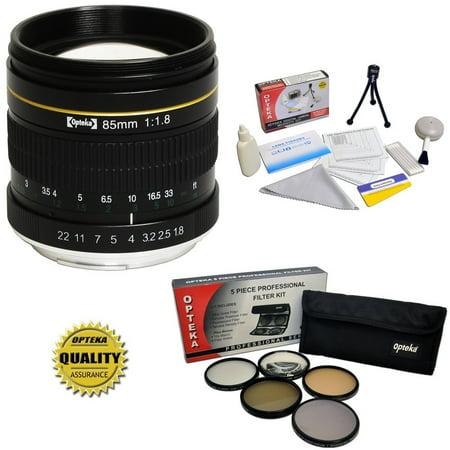 Opteka 85Mm F 1 8 Manual Focus Aspherical Telephoto Lens W  Filters For Canon Eos 80D  77D  70D  60D  60Da  50D  7D  6D  5D  5Ds  1Ds  T7i  T7s  T7  T6s  T6i  T6  T5i  T5  Sl2   Sl1 Digital Slr Camera
