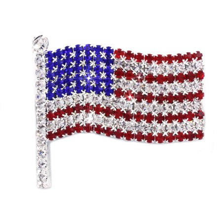 cocojewelry 4th of July American Flag Brooch Pin Independence Day Gift - Guitar Pin Brooch