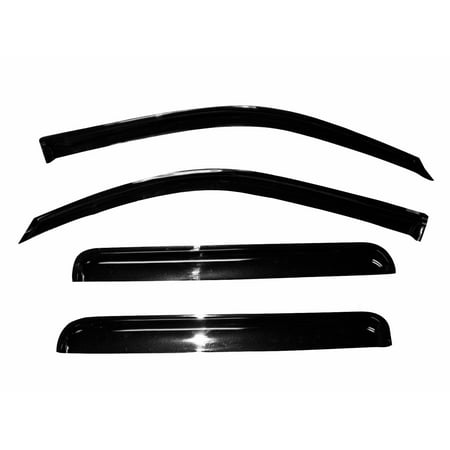 Vent Window Visor Shade Shades Visors Rain Guards for GMC Canyon extended cab 04 05 06 07 08 09 10 11 12 (Gmc Carbon)