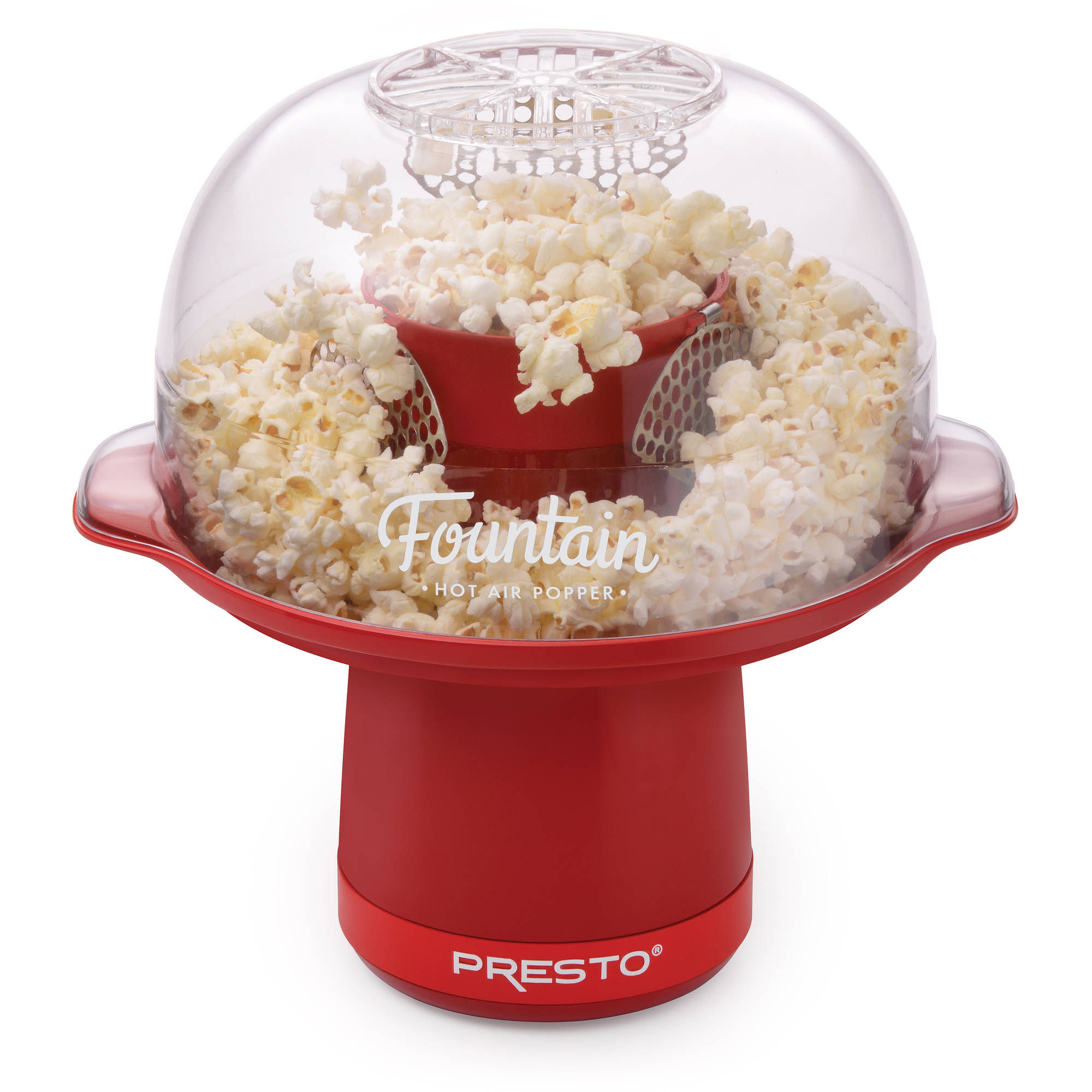 Presto Fountain Hot Air Popper, Red